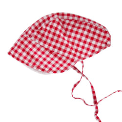 Daisy Bonnet In Red Check Gingham