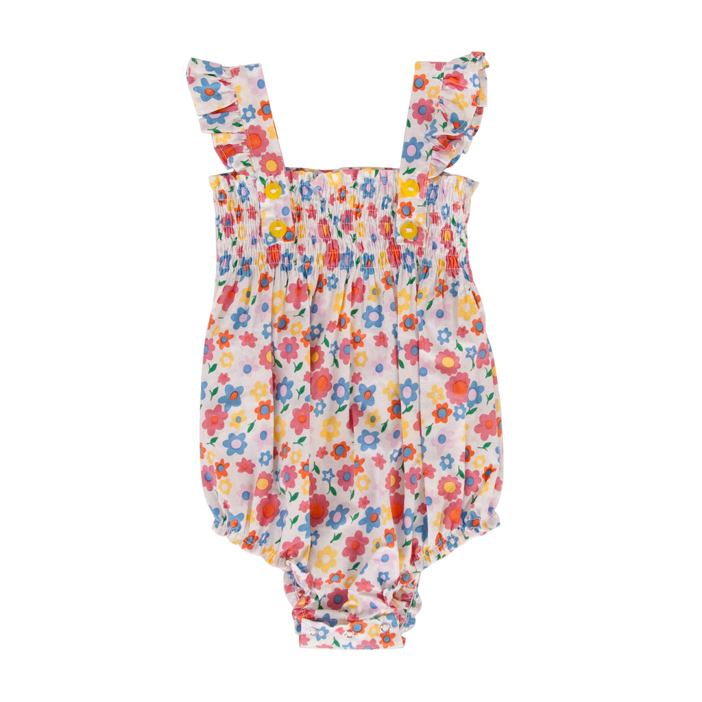 Edie playsuit in Pop floral