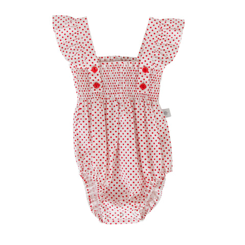August Playsuit In White Broidere