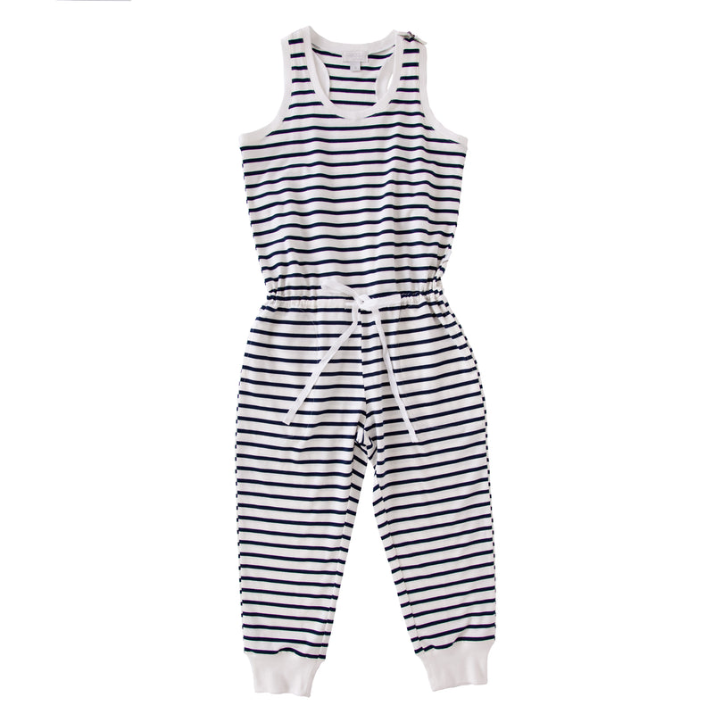 Eleanor Jumpsuit In Navy Stripe