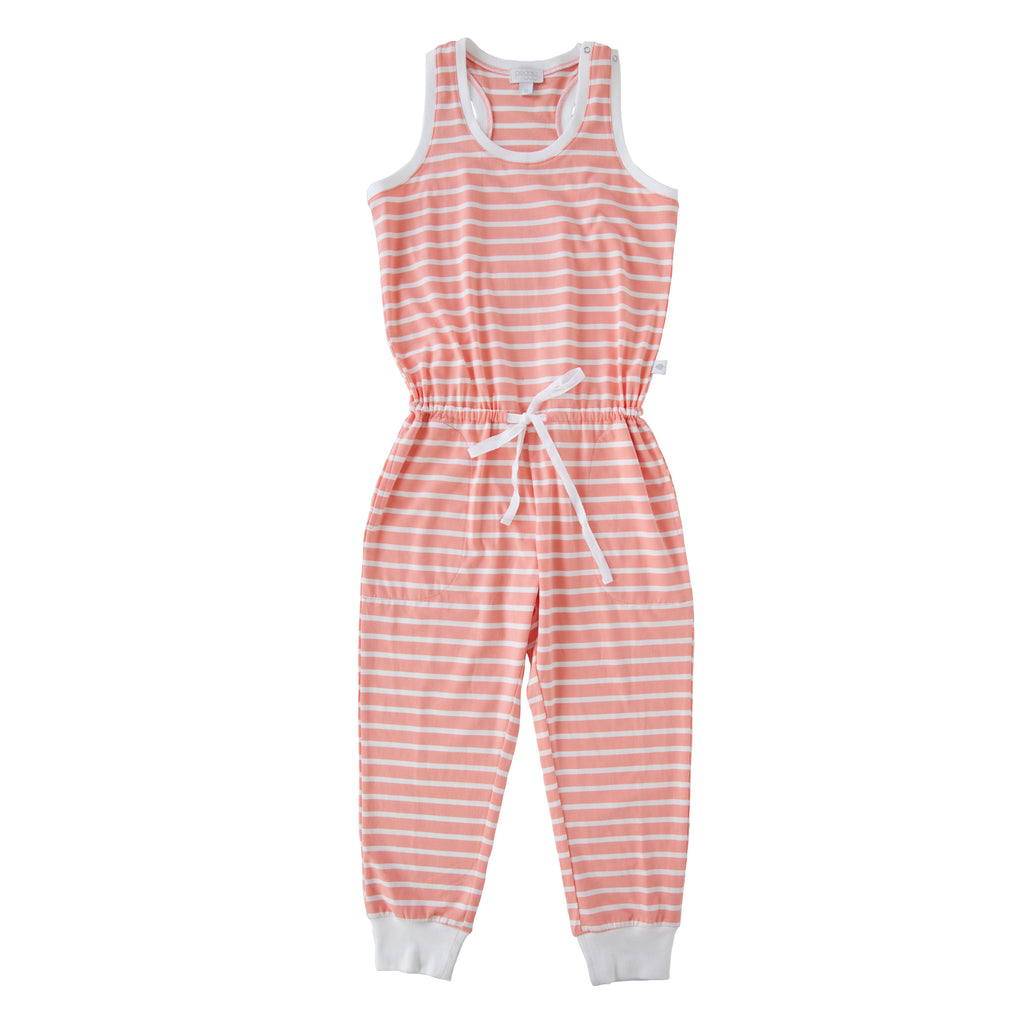 Eleanor Jumpsuit In Peach Stripe