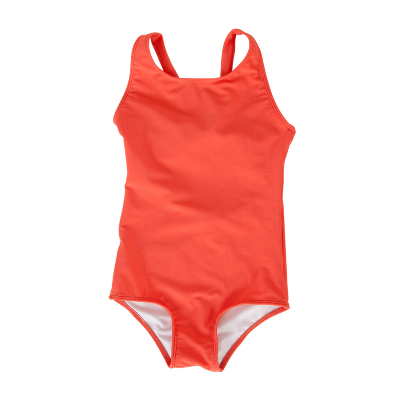 Ines Swimsuit In Hot Coral