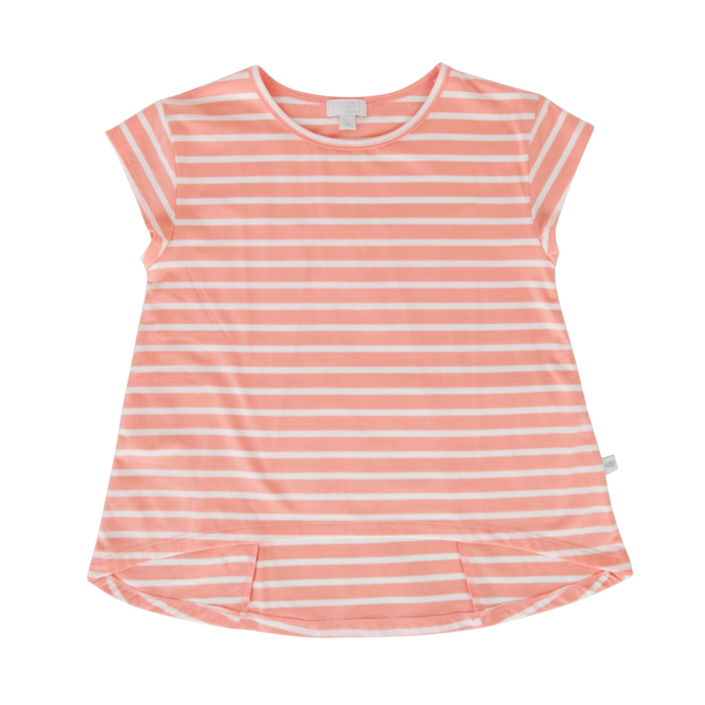 Kit Tee In Peach Stripe