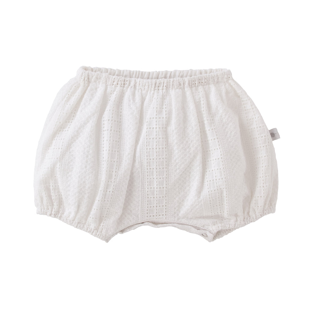 Luna Nappy Cover In White Broidere