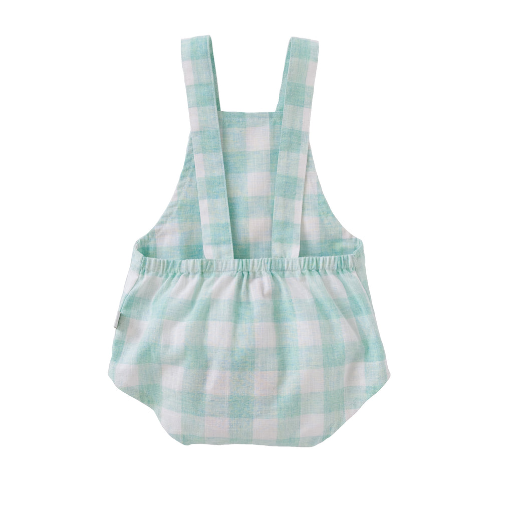 Saskia Playsuit In Mint Check