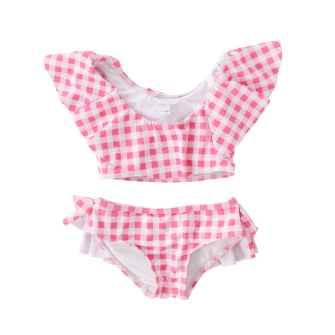 Violet Full piece swimsuit style w/ frill in Blush Pink