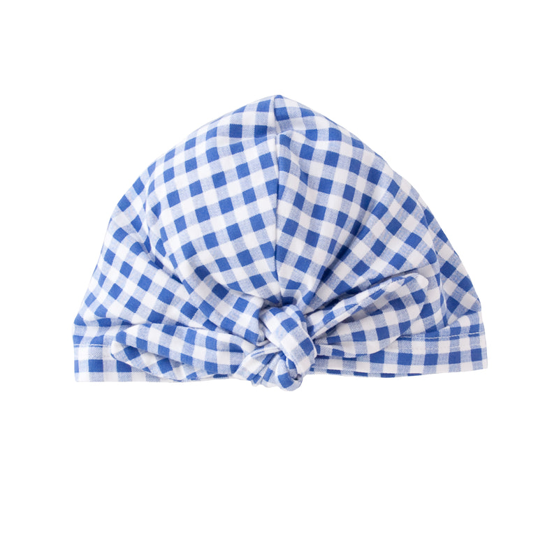 Vincy Turban in Blue Gingham