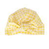 Vincy Turban in Yellow Gingham
