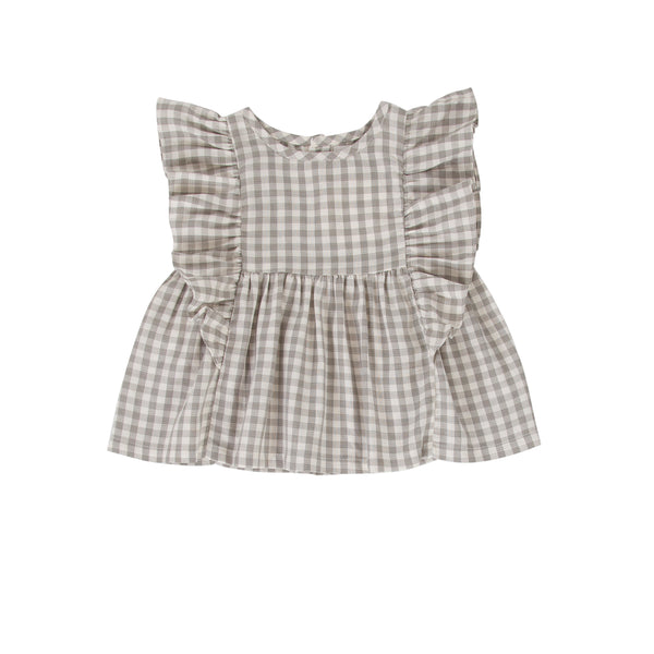 Juniper Top/Dress Washed Green Gingham