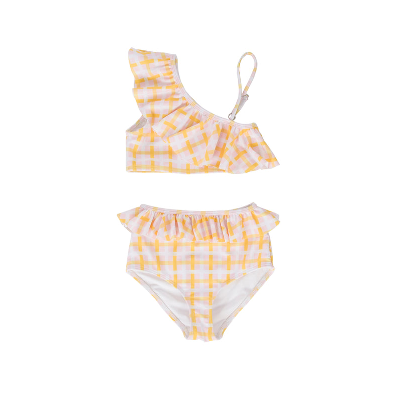 Sunny Two Piece Swimsuit Pink/Yellow Check