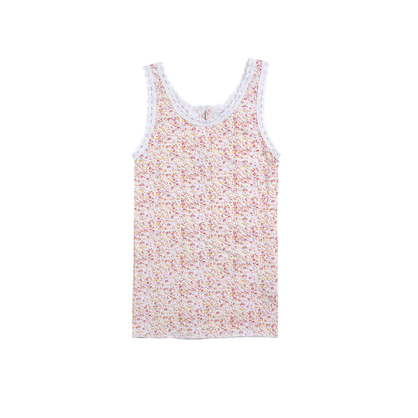 Julia Singlet Printed Cotton in Mini Yellow Floral