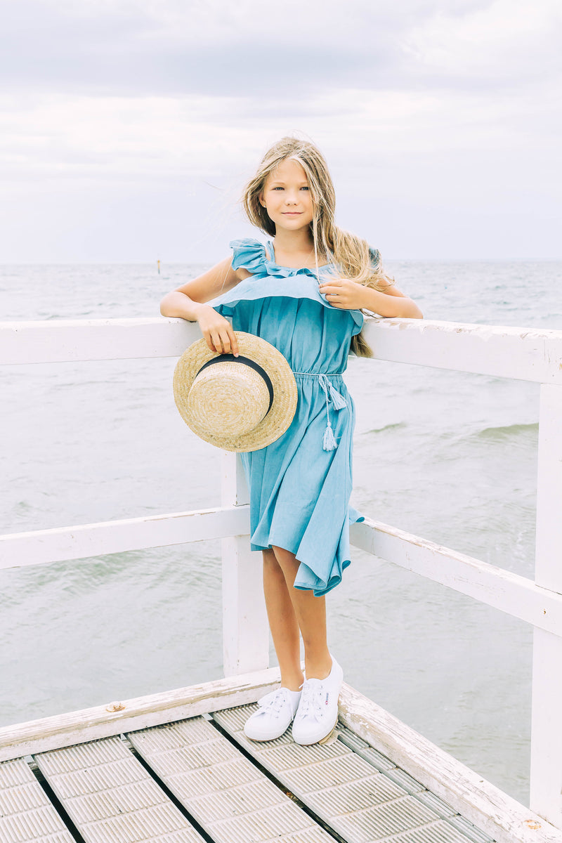 Fifer Dress In Chambray