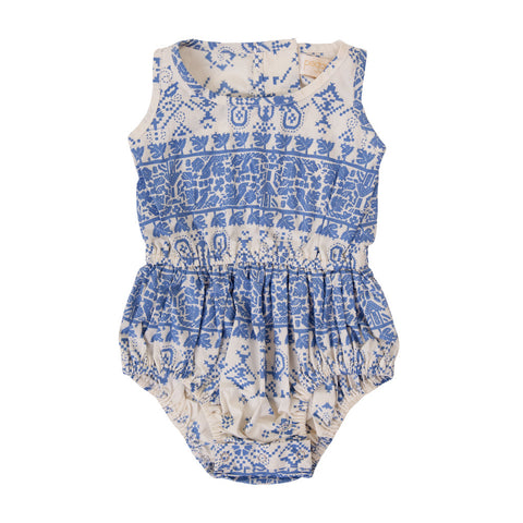 Coco Playsuit in Hippy Blue