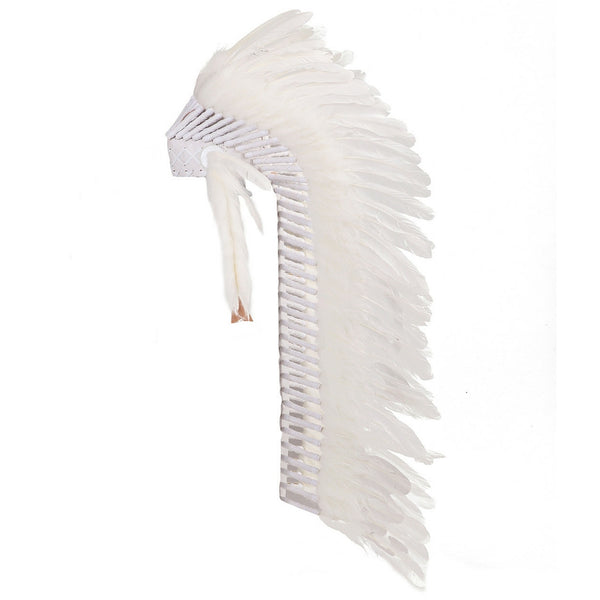 Indian Headdress Full - White Headdress