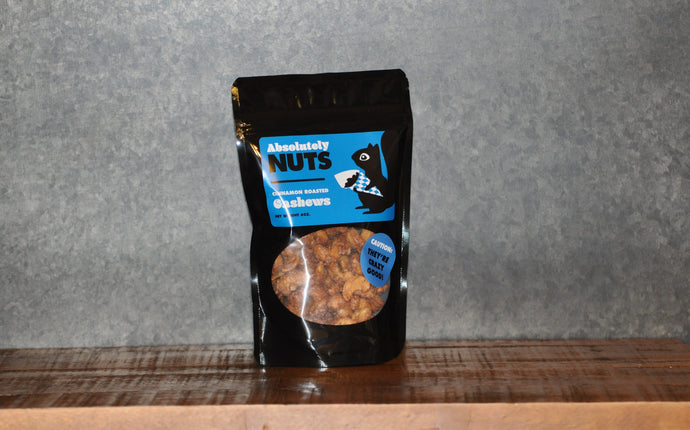 Cinnamon Roasted Cashews  (6 oz.)