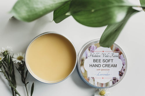 Beeswax Hand Cream 'Bee Soft', Very Moisturizing, Handmade, All Natural Ingredients - Hidden Vale Farm