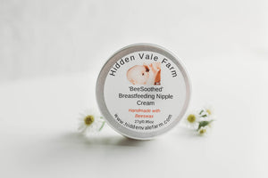 100% Natural, Handmade Breastfeeding Nipple Cream, Soothing, Safe for Baby - Hidden Vale Farm