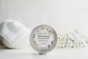 Beeswax Solid Hand Lotion Bar, First Aid for Very Dry Hands, Super Moisturizing, All Natural - Hidden Vale Farm