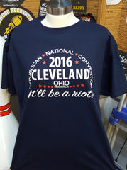 2016 RNC Cleveland, T-Shirt (XXLarge, Navy Blue)