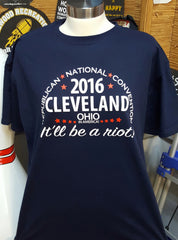 2016 RNC Cleveland, T-Shirt (Medium, Navy Blue)