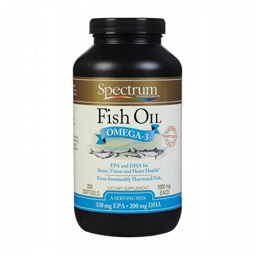 Spectrum Essentials, Fish Oil, Omega-3, 1000 mg, 250 Softgels