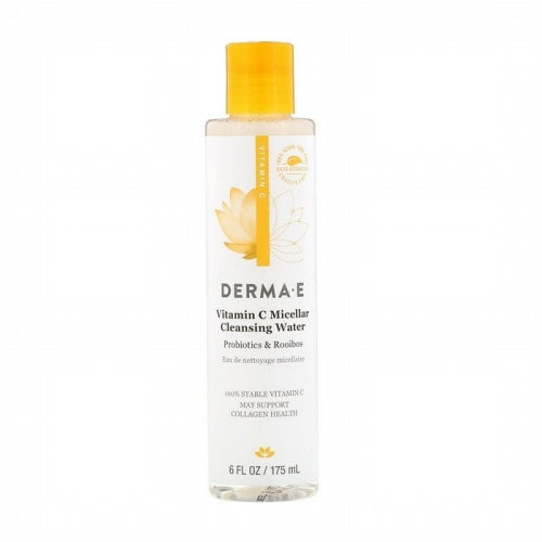 Derma E, Vitamin C Micellar Cleansing Water, Probiotics & Rooibos, 6 fl oz (175 ml)