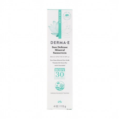 Derma E, Sun Defense Mineral Sunscreen, SPF 30, 4 oz (113 g)