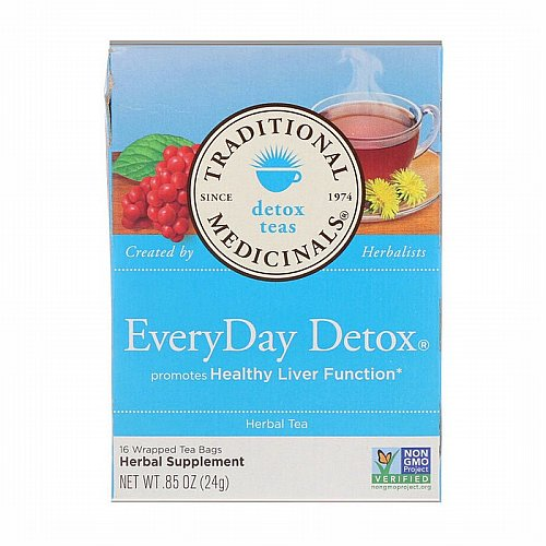 Traditional Medicinals, Traditional Medicinals, Detox Teas, EveryDay Detox, 16 Wrapped Tea Bags, .85 oz (24 g)