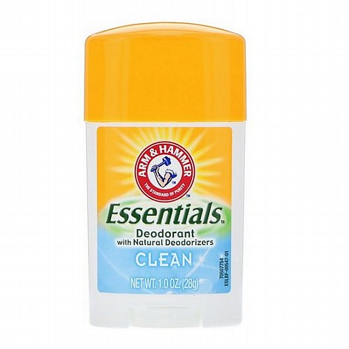 Arm & Hammer, Essentials Natural Deodorant, For Men and Women, Clean, 1.0 oz (28 g)
