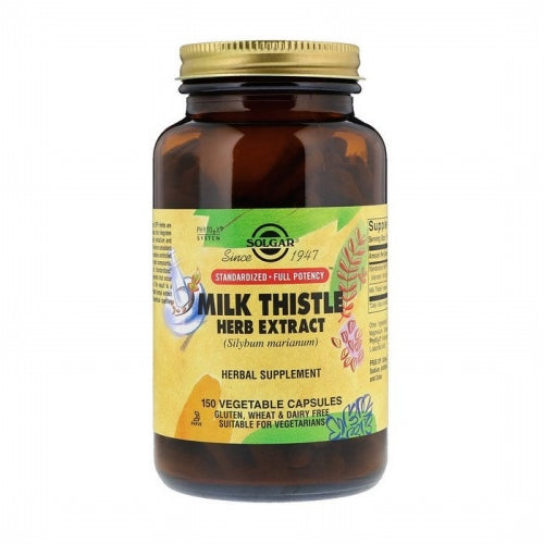 Solgar, Milk Thistle Herb Extract, 150 Vegetable Capsules