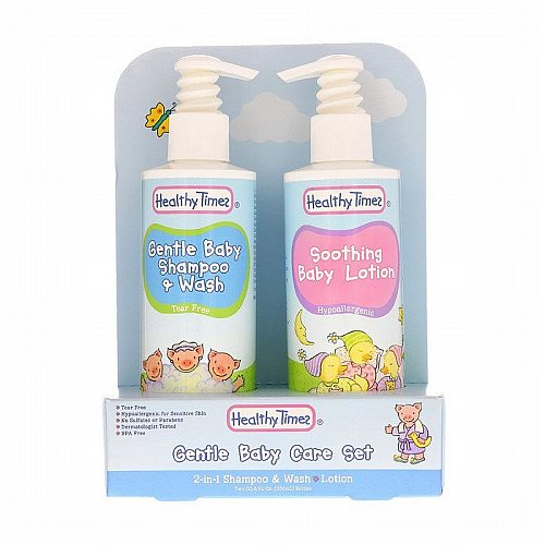 Healthy Times, Gentle Baby Care Set, 2-in-1 Shampoo & Wash, Lotion, 2 Bottles, 8 fl oz (236 ml) Each