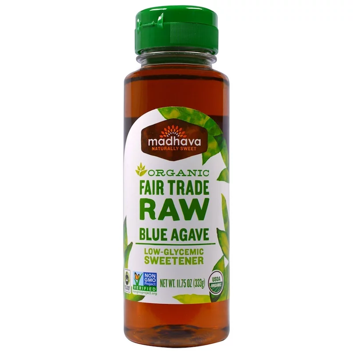 Madhava Natural Sweeteners, Organic Fair Trade Raw Blue Agave, 11.75 oz (333 g)