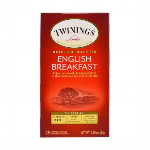 Twinings, English Breakfast Tea, 25 Individual Tea Bags, 1.76 oz (50 g)