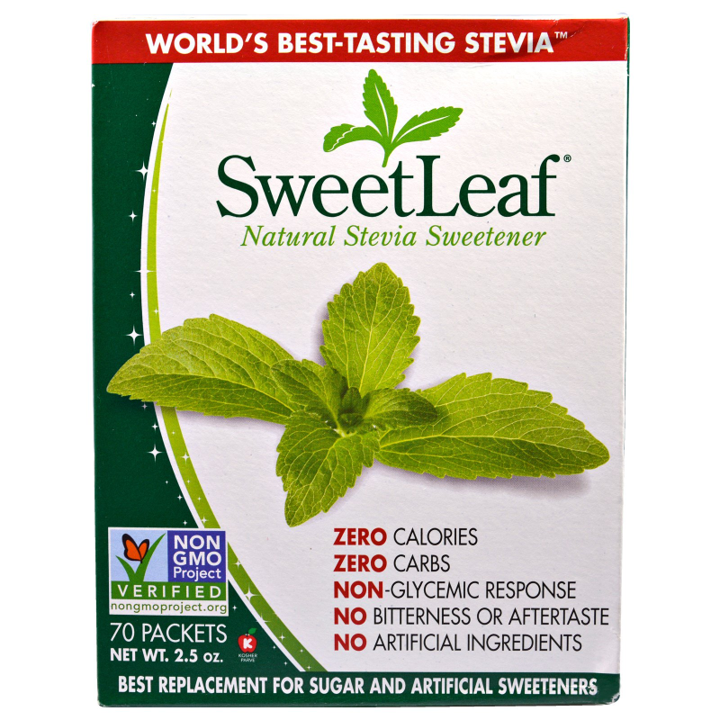 Wisdom Natural, SweetLeaf, Natural Stevia Sweetener, 70 Packets