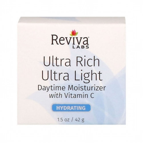 Reviva Labs, Ultra Rich Ultra Light Daytime Moisturizer with Vitamin C, 1.5 oz (42 g)