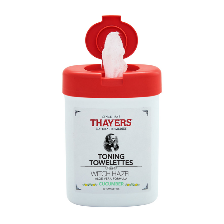 Thayers - Witch Hazel Aloe Vera Formula Toning Towelettes Cucumber - 30 Towelette(s)