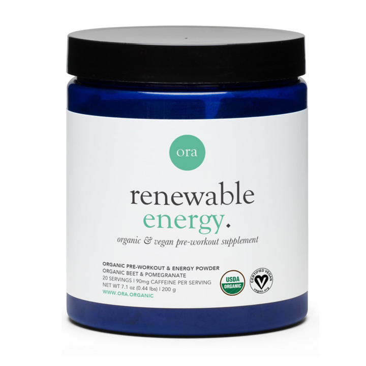 Ora Organic, Renewable Energy, Organic & Vegan Pre-Workout Dietary Supplement Powder