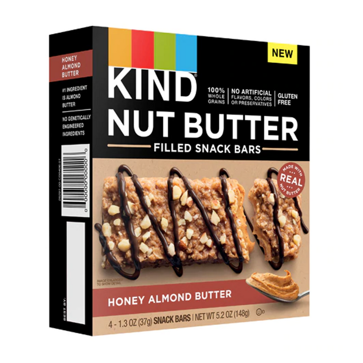 Kind Nut Butter Filled Gluten Free Honey Almond Butter -- 4 Bars