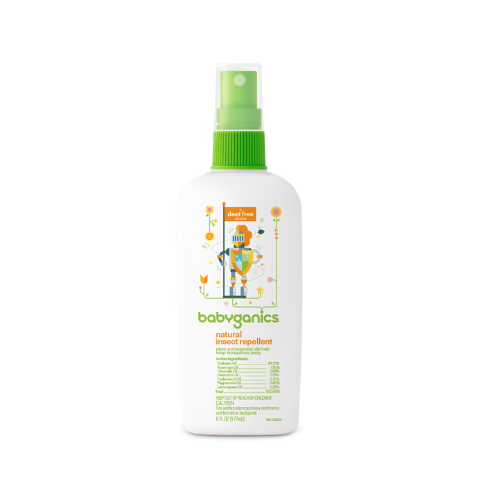 BabyGanics, Natural Insect Repellent, Deet Free, 6 oz (177ml)
