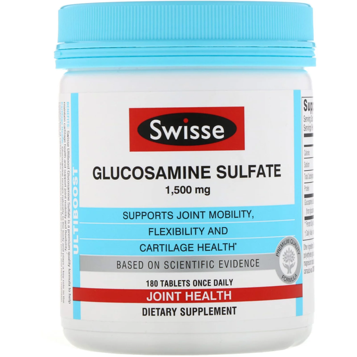 Swisse, Ultiboost, Glucosamine Sulfate, 1,500 mg, 180 Tablets
