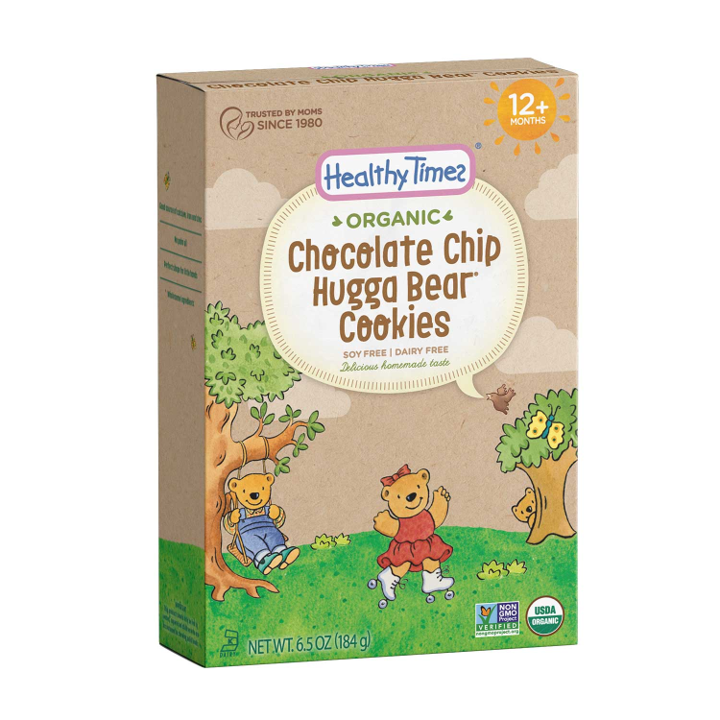 Healthy Times, Organic, Hugga Bear Cookies, Chocolate Chip, 12+ Months, 6.5 oz (184 g)