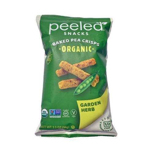 Peeled Snacks Organic Peas Please Snack Gluten Free Garden Herb 3.3 oz