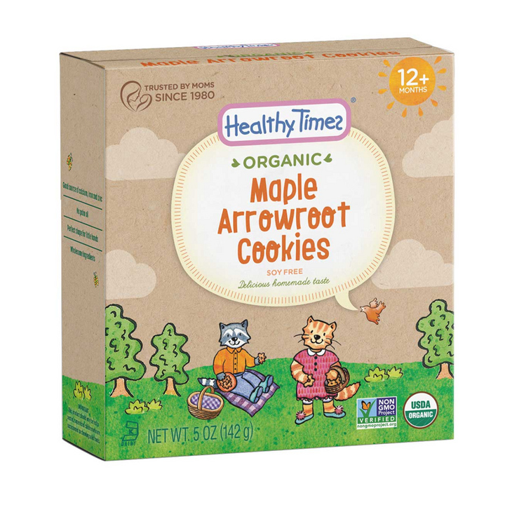 Healthy Times, Organic, Arrowroot Cookies, Maple, 12+ Months, 5 oz (142 g)