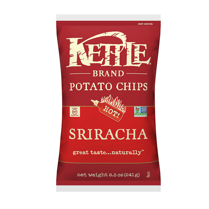 Kettle Foods, Potato Chips, Sriracha, 8.5oz (241g)