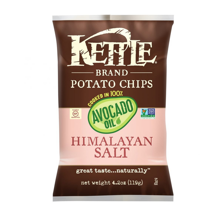 Kettle Foods, Potato Chips, 100% Avocado Oil Himalayan Salt, 4.2 Ounce