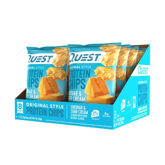 Quest Nutrition Protein Chips Cheddar & Sour Cream  8 Bags