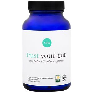 Ora, Trust Your Gut, Vegan Probiotic & Prebiotic Supplement 16 Billion, 60 Vegan Capsules