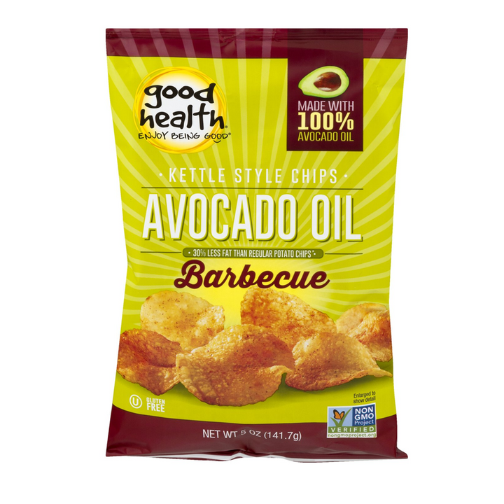 Good Health Inc. Kettle Style Avocado Oil Potato Chips Barbecue -- 5 oz