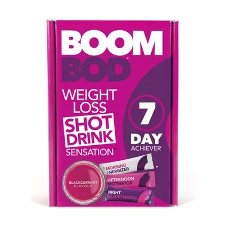 Boombod 7 Day Achiever 21 Sachets Blackcurrant Flavor