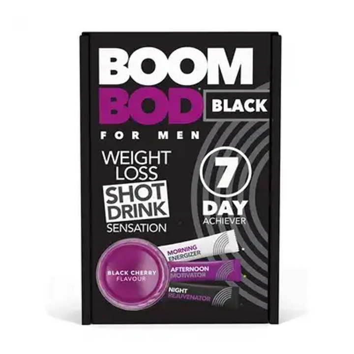 Boombod 7 Day Achiever 21 Sachets For Men Black Cherry Flavour